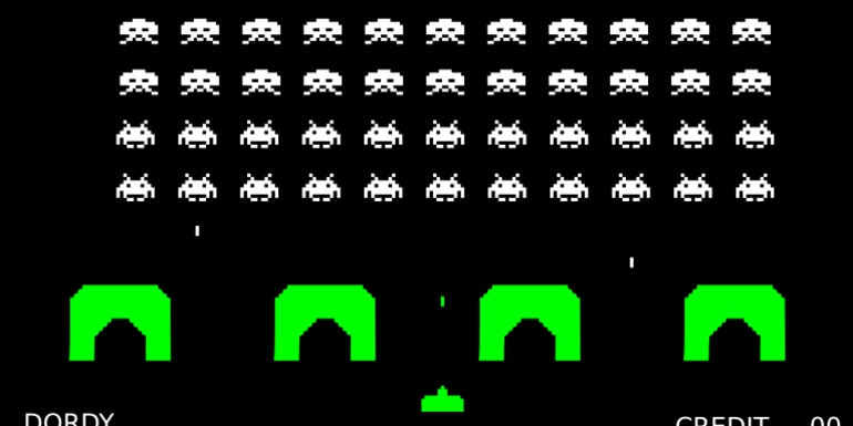 EOS launches space invaders