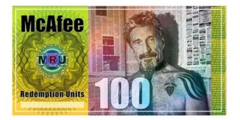 john mcafee currency crypto