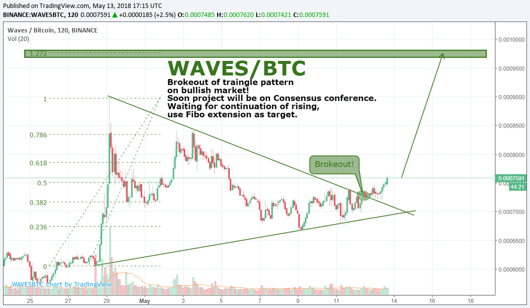 WAVES/BTC by SNE 13.05